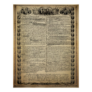 Vintage Declaration of Independence Print