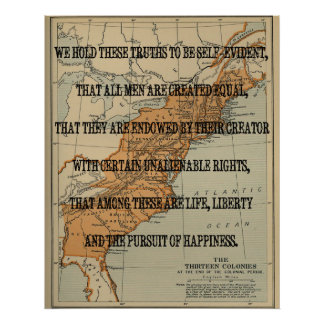 Vintage Declaration of Independence verse with a M Posters