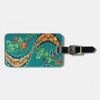 Vintage Decorative Colorful French Floral Luggage Tag