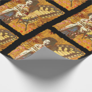 Vintage Decorative Geisha Wrapping Paper
