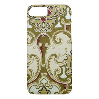 Vintage Decorative Gold Scroll Royal Wallpaper iPhone 8/7 Case