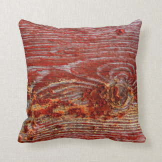 Vintage Deep Rustic Red Shabby Grunge Design Cushion