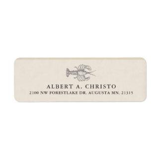 Vintage Deep Sea Lobster | Return Address Return Address Label