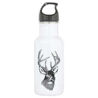 Vintage deer art graphic 532 ml water bottle