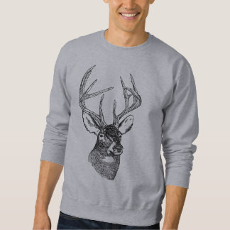 Vintage deer art graphic sweatshirt
