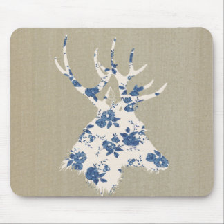 Vintage Deer Head Mouse Pad