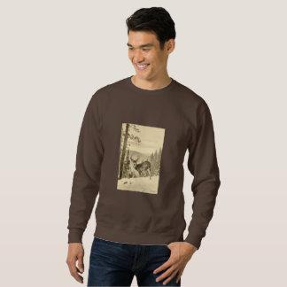Vintage Deer In Winter Sweatshirt