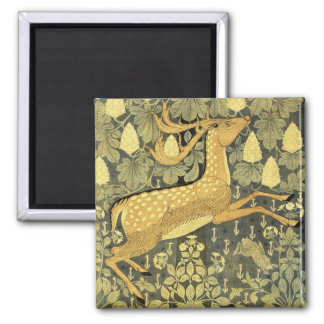 Vintage Deer Rabbit Chestnut Tree 1902 Fridge Magnets
