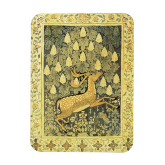 Vintage Deer Rabbit Chestnut Tree 1902 Vinyl Magnet