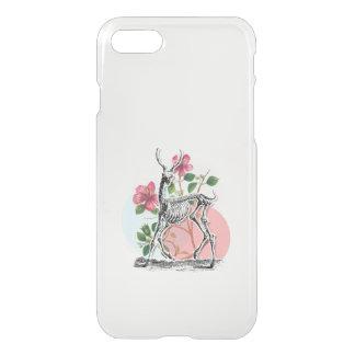 Vintage Deer Skeleton And Flowers iPhone 7 Case