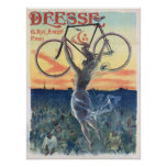 Vintage Deesse Cycles Bicycle Ad Art Poster Girl
