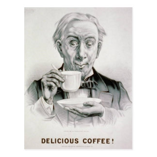 Vintage Delicious Coffee Postcard