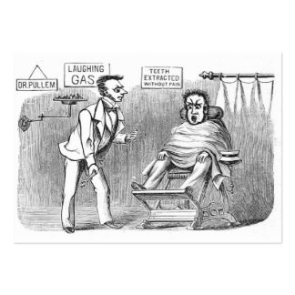 Vintage Dentist, Extracting teeth without pain! :) Pack Of Chubby Business Cards