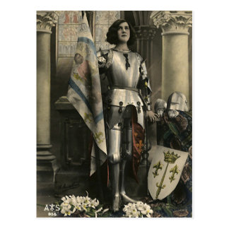 Vintage Depiction of Joan of Arc Postcard