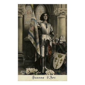 Vintage Depiction of Joan of Arc Poster