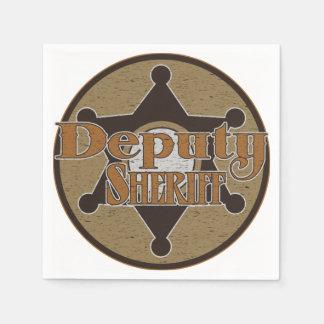 Vintage Deputy Sheriff Disposable Serviette