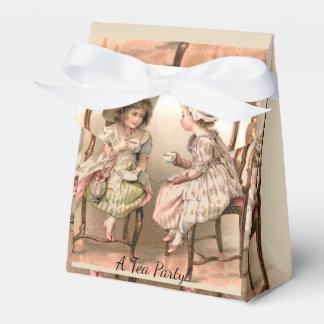 VINTAGE DESIGN - A TEA PARTY PLACE SETTING FAVOR FAVOUR BOX