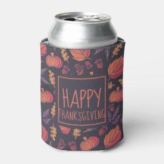 Vintage Design Happy Thanksgiving | Can Cooler