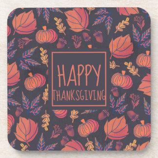 Vintage Design Happy Thanksgiving | Coaster
