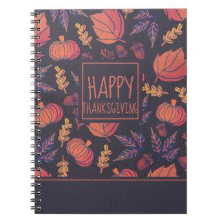 Vintage Design Happy Thanksgiving | Notebook