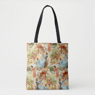 Vintage Design Old Fashioned Retro Scene Tote Bag