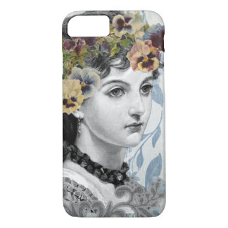 Vintage Design Old Fashioned Retro Victorian Lady iPhone 8/7 Case
