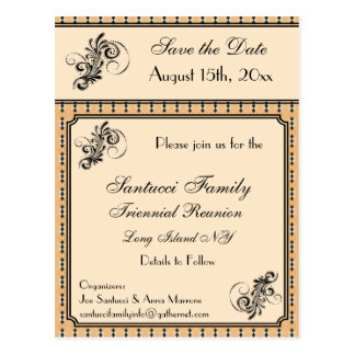 Vintage Design Reunion, Event, Party Save the Date Postcard