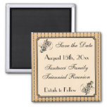 Vintage Design-Reunion, Event, Party Save the Date Square Magnet