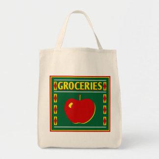 Vintage Design Reusable Grocery Tote Canvas Bag
