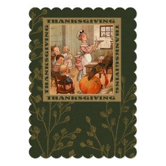 Vintage Design Thanksgiving Dinner Invitations