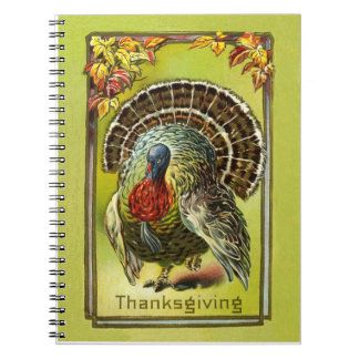 Vintage Design Thanksgiving Recipe Book Note Book
