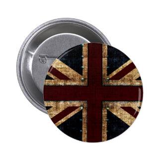 vintage design Union Jack button