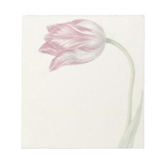 Vintage design with pink and white tulip notepads
