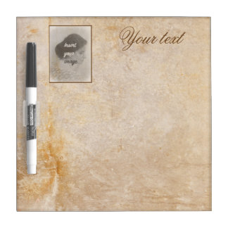 Vintage design with your photo. Add your text. Dry Erase Board