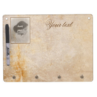 Vintage design with your photo. Add your text. Dry Erase Board With Key Ring Holder