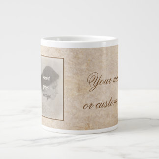 Vintage design with your photo. Add your text. Large Coffee Mug