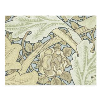 Vintage Designer Art Nouveau Floral Pattern Postcard