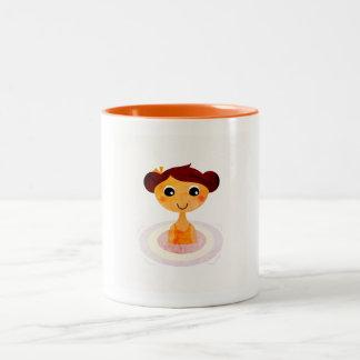 Vintage designers mug with swimming girl