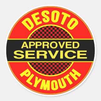 Vintage DeSoto service sign Round Sticker