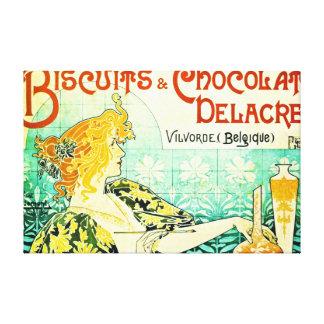Vintage Dessert Ad 1896 Stretched Canvas Print