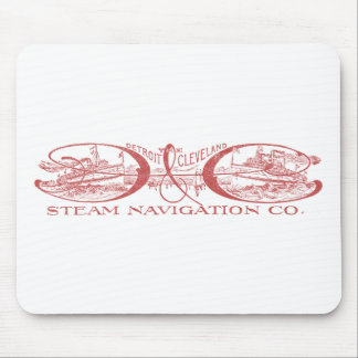 Vintage Detroit & Cleveland Steam Navigation Red Mouse Pad