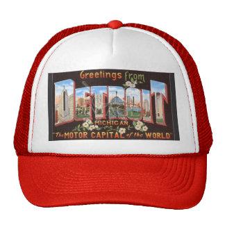 Vintage Detroit Postcard Hat