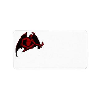 Vintage Devil Address Label