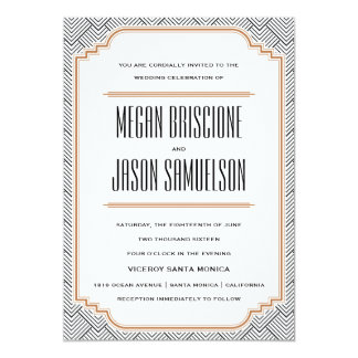 Shop Zazzle's selection of art deco wedding invitations for your special day!