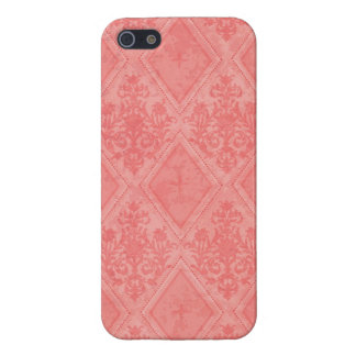 Vintage Diamond Damask Salmon Case For The iPhone 5