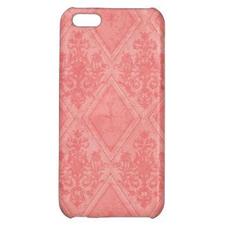 Vintage Diamond Damask Salmon Case For iPhone 5C