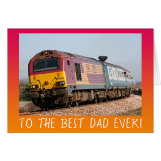 Vintage diesel engine Father's Day personalised Card