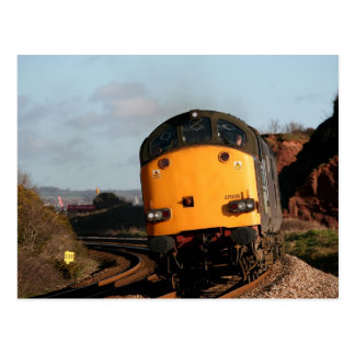 Vintage Diesel Loco 37038 at Dawlish Warren Postcard