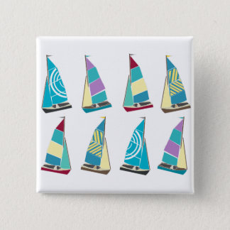 Vintage Dinghies 15 Cm Square Badge
