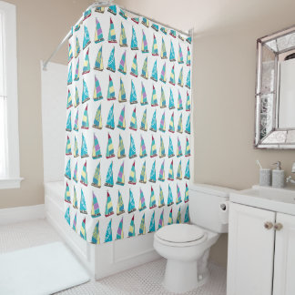 Vintage Dinghies Shower Curtain